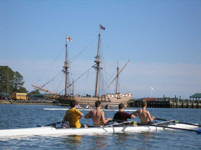 Godspeed-Arrival-During-----Practice-(1)-Godspeed,-one-of-Jamestown-Settlement's-replica-ships,-arrives-at-Williams-Wharf-during-a-Mathews-High-School-practice.-Courtesy-of-Tim-Ulsaker..jpg
